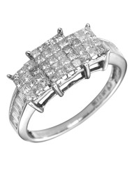18 Carat White Gold 1 Carat Diamond Ring