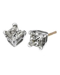 9 Carat Gold Princess-Cut Earrings