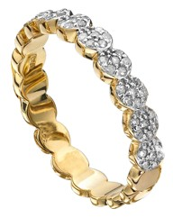 9 Carat Gold 1/4 Carat Diamond Band Ring
