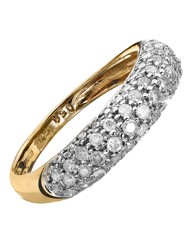 9 Carat Gold 1/2ct Pave Set Diamond Ring