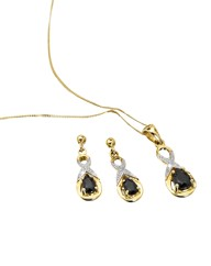 9ct Gold Sapphire Pendant & Earrings Set