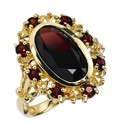 9 Carat Gold 3ct Garnet Cluster Ring