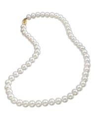 9 Carat Gold White Pearl Necklace