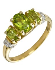 9 Carat Gold Peridot Ring