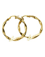 9 Carat Gold Hoop Earrings