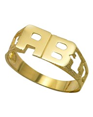 9 Carat Gold Initials Ring