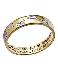 9 Carat Gold Footprints Band Ring