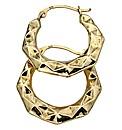 9 Carat Gold Textured Earrings