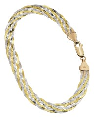 9 Carat Gold Multi-Colour Lattice Chain