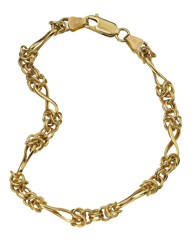 9 Carat Gold Twisted Link Bracelet
