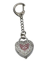 Heart Shaped Keyring Clock
