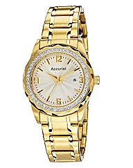 Accurist Ladies Gold-tone Bracelet Watch