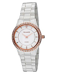 Accurist Ladies Ceramic Bracelet Watch