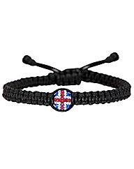 Crystal Union Flag Ball Bracelet