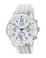 Accurist Gents White Chronograph Watch