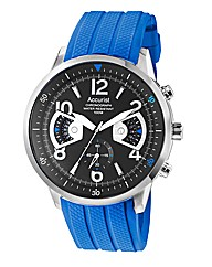 Accurist Gents Blue Chronograph Watch