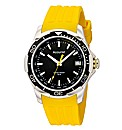 Accurist Gents Yellow Strap Watch