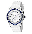 Accurist Gents White Strap Watch