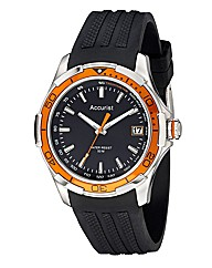 Accurist Gents Black Strap Watch