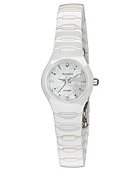 Accurist Ceramic Ladies White Watch
