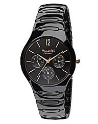Accurist Ceramic Gents Black Watch