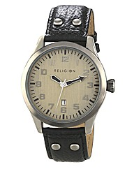 Religion Gents Black Strap Watch