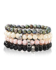 Chrysalis Gemstone Bead Stretch Bracelet