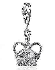 Chrysalis Sterling Silver Crown Charm