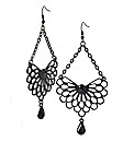 Oasis Black Filigree Style Drop Earrings