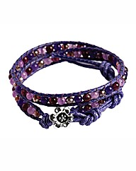 345 Wrap Crystal Purple Bracelet