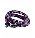 345 Wrap Purple Crystal Bracelet