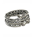 345 Wrap Silver Colour Bracelet