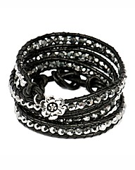 345 Wrap Silver Coloured Bracelet