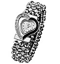 Ladies Heart-Shaped Bead Watch