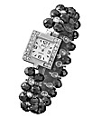 Ladies Square Case Bead Watch