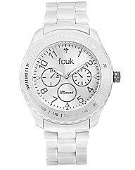 FCUK Ladies Diamond Accent Plastic Watch