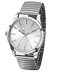Gio-Goi Ladies Large Round Dial Stretch
