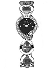Seksy Ladies Black Dial Bracelet Watch
