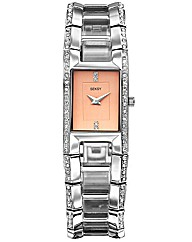 Seksy Ladies Rose Dial Bracelet Watch