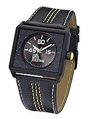 Henleys Clothing Gents Black Strap Watch