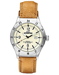 Timex Expedition Gents Tan Strap Watch