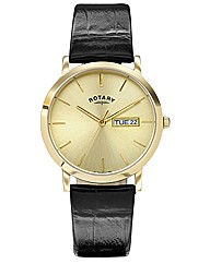 Rotary Gents Black Strap Date Watch