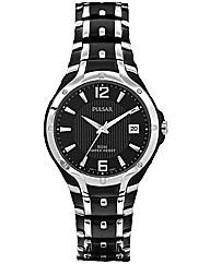 Pulsar Gents Black Bracelet Watch