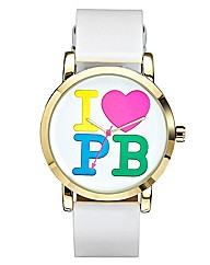 Pauls Boutique Ladies White Strap Watch