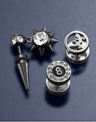 Set of 3 Gents Barbell Studs