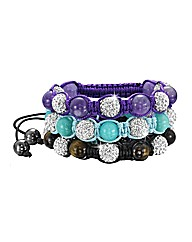 Gemstone & Crystal Bead Bracelet