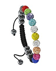 Multi-Colour Crystal Bead Bracelet
