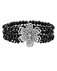 Flower Glitzy Stretch Bracelet