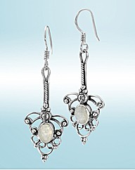 Sterling Silver Fancy Drop Earrings