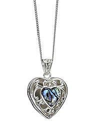 Sterling Silver Abalone Locket Pendant